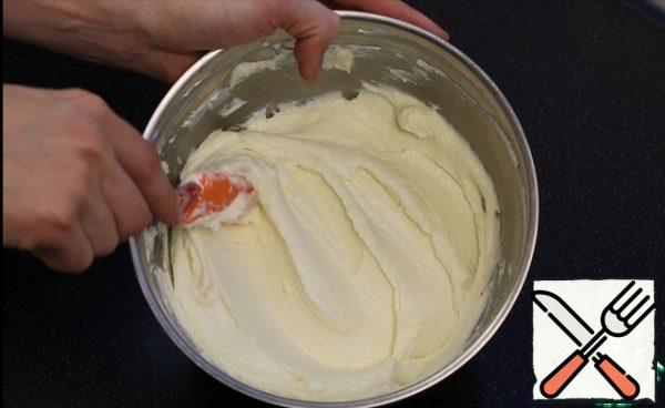 It is better to break the curd with an immersion blender or RUB it through a sieve until it is pasty.