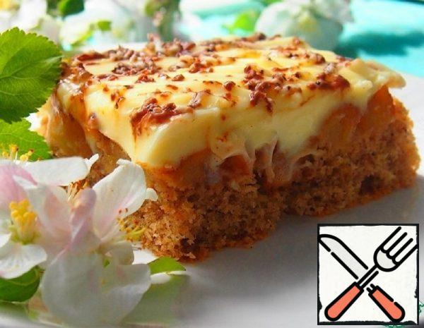 Apple Pie with Delicate Cream Recipe