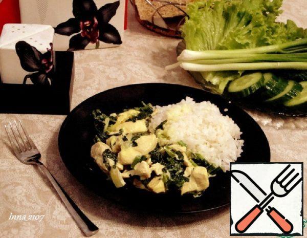 Chicken Breast with Spinach Recipe