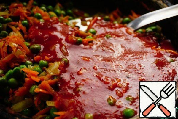 Add the sauce.