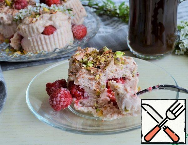 Cottage Cheese Dessert with Raspberries and Pistachios Recipe