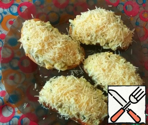 Sprinkle the top with grated cheese.