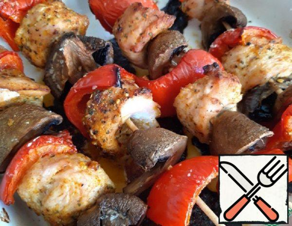 Kebabs with Turkey Smoke in the Oven Recipe