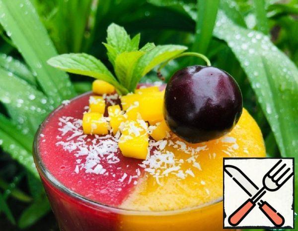 "Dessert ""Raspberry-Mango"" Recipe"