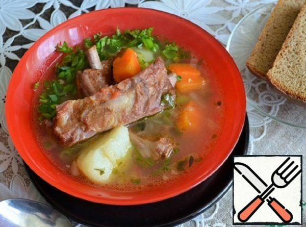 Stew with Smoked Ribs Recipe