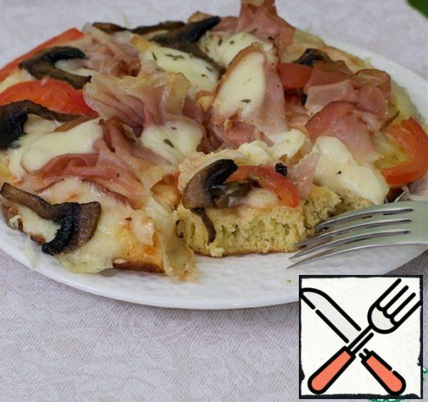 Omelet-Pizza on a Frying Pan Recipe