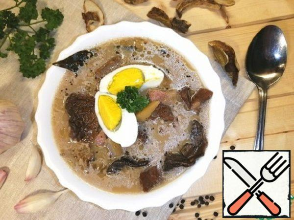 Soup with Dried Mushrooms Recipe