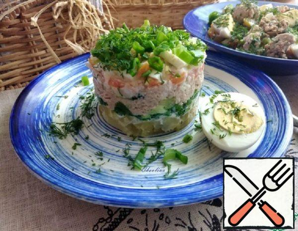 Salad with Liver and Pollock ROE Recipe