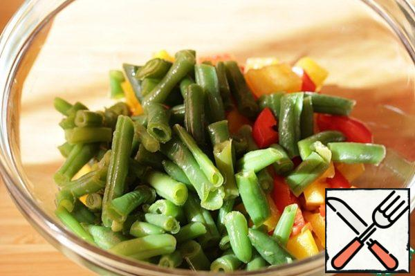 Add the string beans.