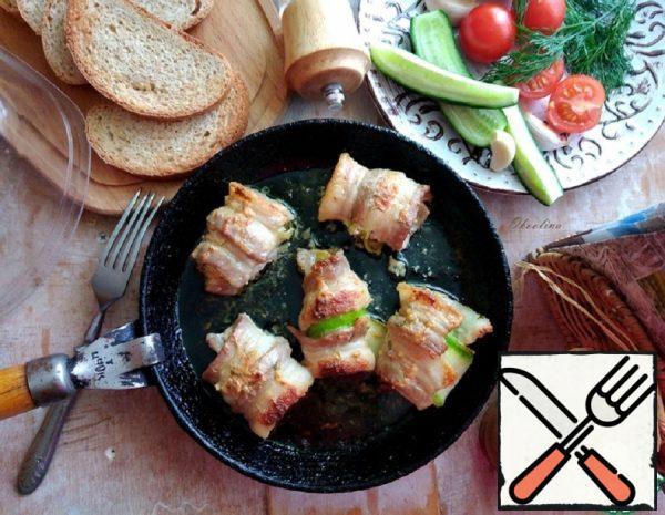 Young Zucchini in Bacon Recipe