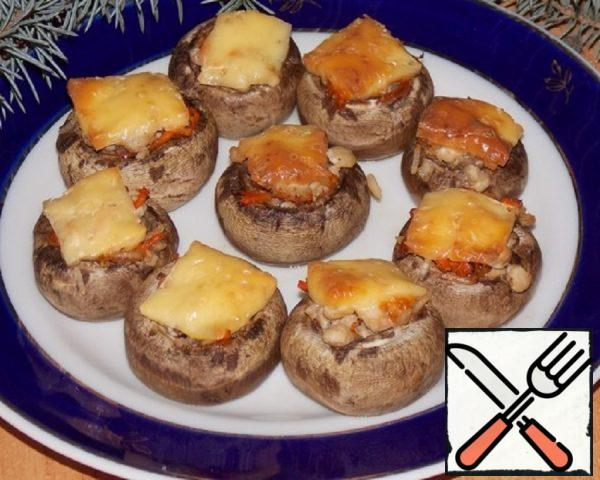 Mushrooms stuffed with Carrots and Rice Recipe