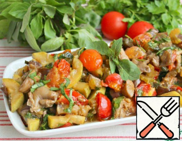 Delicious Snack with Eggplant and Mushrooms Recipe