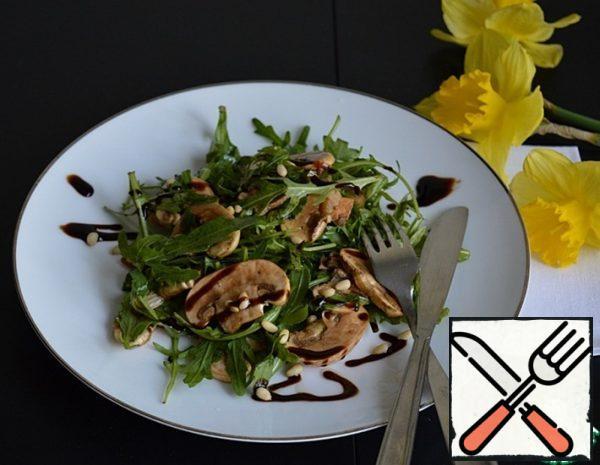 Salad with Arugula and Mushrooms Recipe