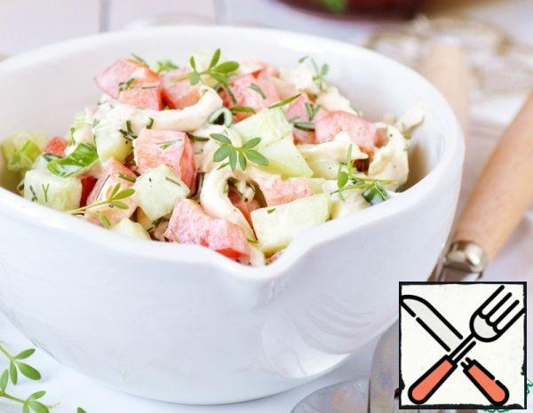 Salad with Chicken Breast and Vegetables Recipe