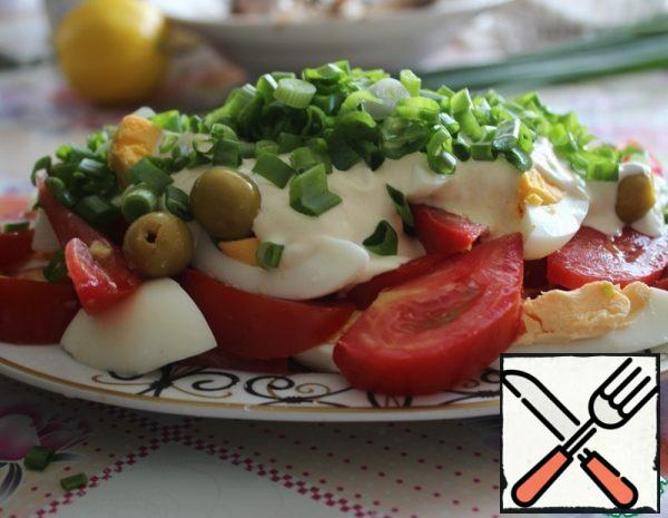 Salad with Egg and Tomato Recipe