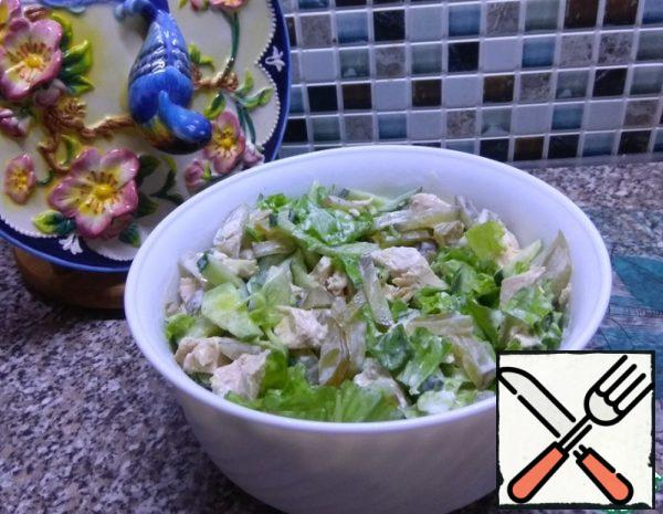 "Salad ""Chicken with Sourness"" Recipe"