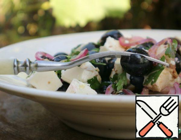 Salad with Grapes and Cheese Recipe