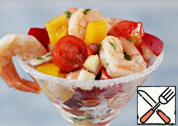Salad with Prawns and Vegetables Recipe