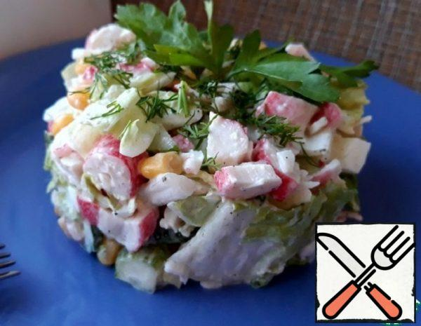 Crab Salad with Chinese Cabbage Recipe