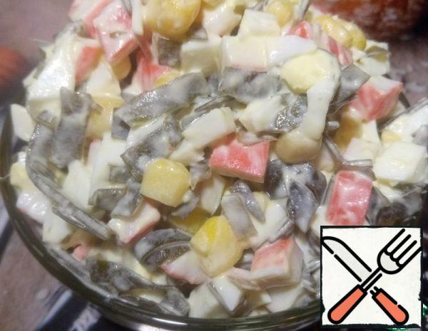 Seaweed and Crab Stick Salad Recipe