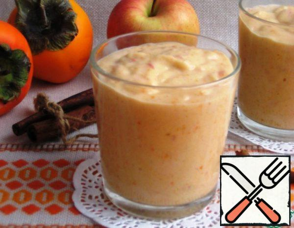 Spicy Smoothie with Persimmon and Apple Recipe