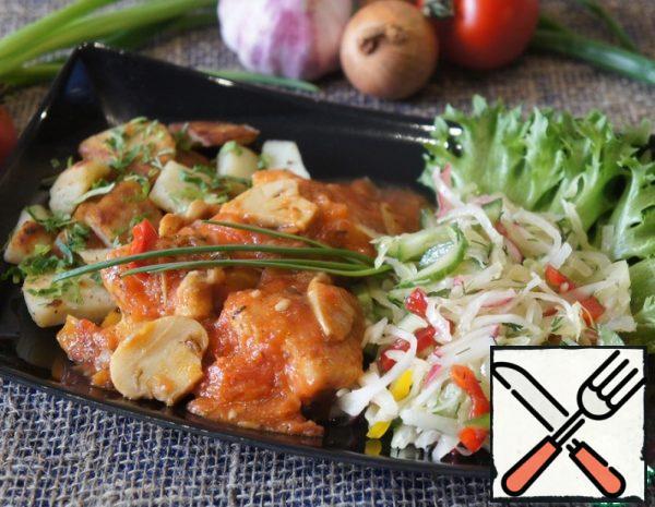 Chicken in Tomato Sauce with Mushrooms Recipe