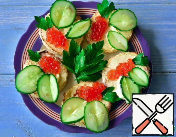 Sandwiches with Red Caviar Recipe