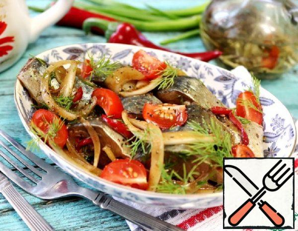 Marinated Mackerel with Soy Sauce and Tomatoes Recipe