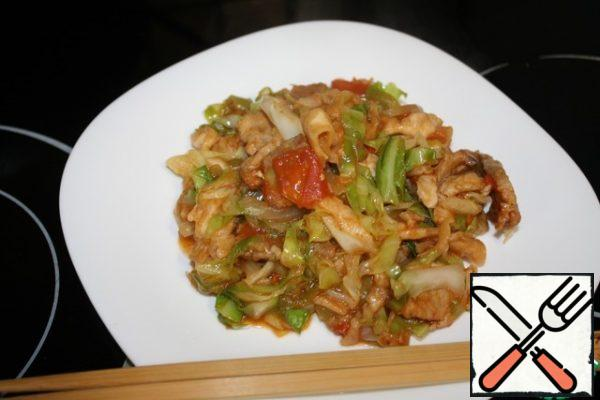 Our dish is ready! It is advisable to serve immediately and cook at once, because the bread will turn sour. Bon Appetit!
