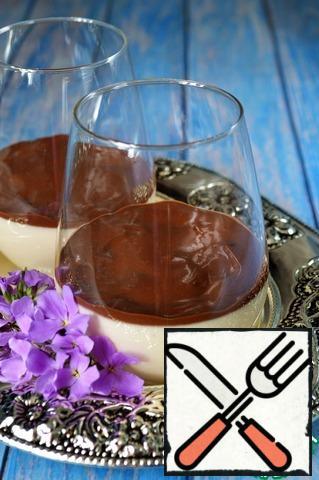 Pour over the cooled Panna cotta sauce and serve. Bon Appetit!