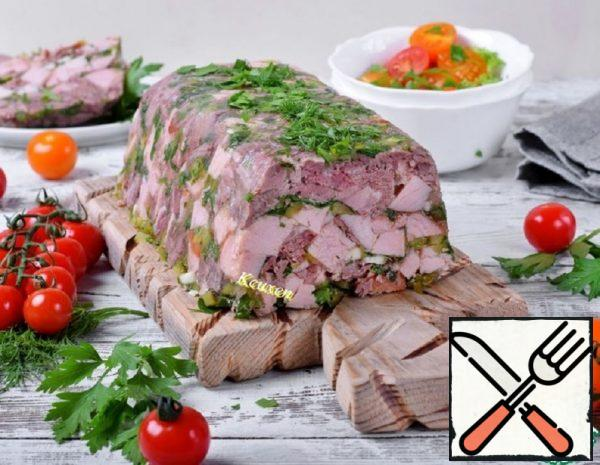 Meat Terrine with Gherkins and Greens Recipe