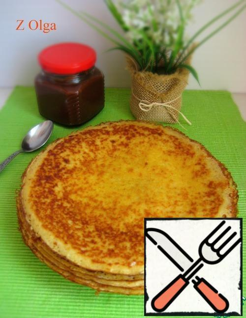 Ready-made pancakes, if desired, grease with butter.