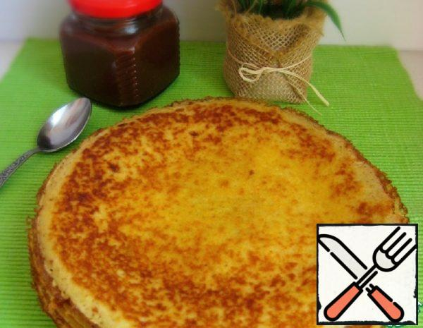 Corn Pancakes on the Fermented Baked Milk Recipe