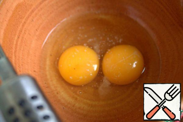 Add salt to the eggs if desired.