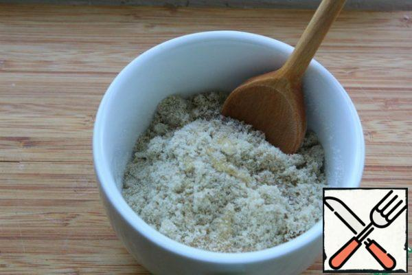 Punch the seeds with powdered milk. Gradually, adding honey, make a sticky mass. I needed a little more honey.