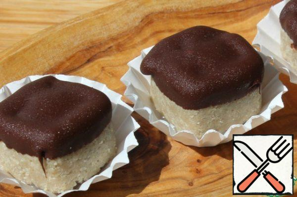 If desired, melt the chocolate and dip the candies. Remove to the freezer before serving.