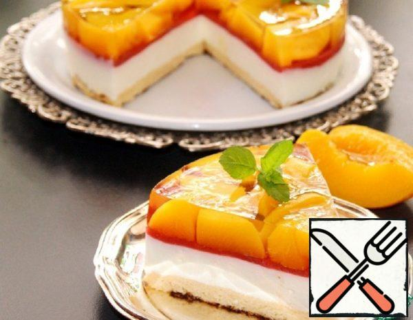 Cold Cheesecake with Peach Jelly Recipe