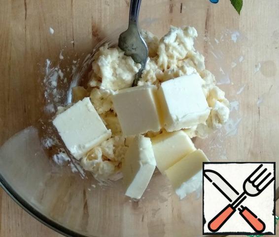 Add soft butter.