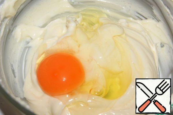 Add the egg and RUB again.