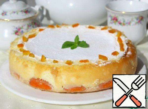 Cake with Apricots and Baked Tender Cream Recipe