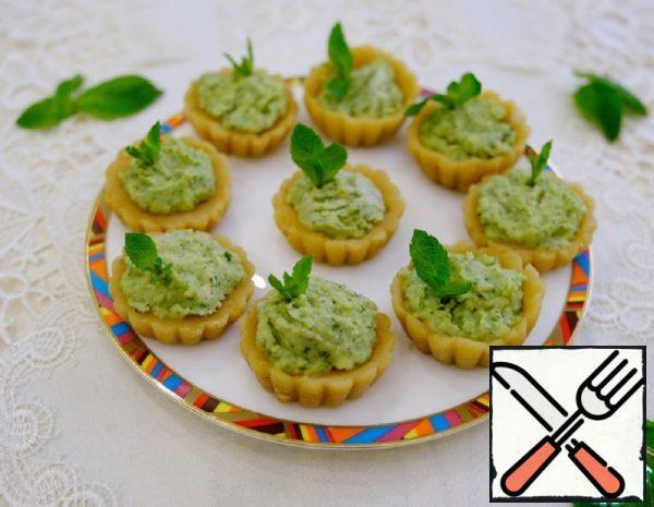 Mint Baskets with Avocado Cream Recipe