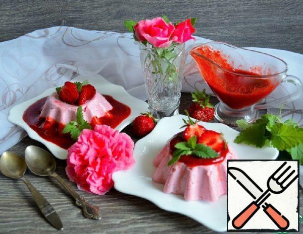 Yogurt Blancmange with Strawberries Recipe
