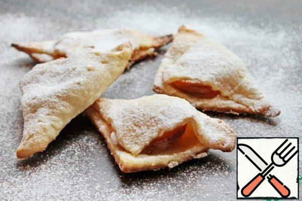 Cottage Cheese Triangles with Apricots Recipe