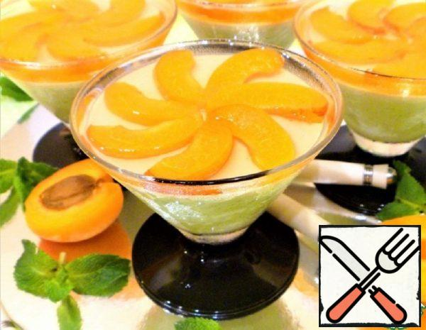 Mint Panna Cotta with Apricots in Jelly Recipe