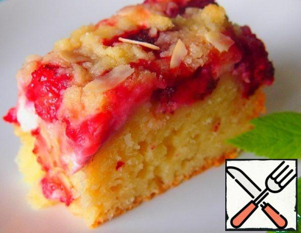 Almond Cake with Strawberries Recipe