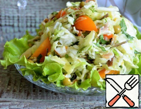 Cabbage Salad with smoked Flounder Recipe