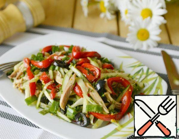 Baked Pepper Salad with Chicken Recipe