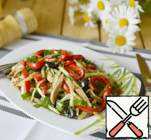 Serve the salad chilled.
