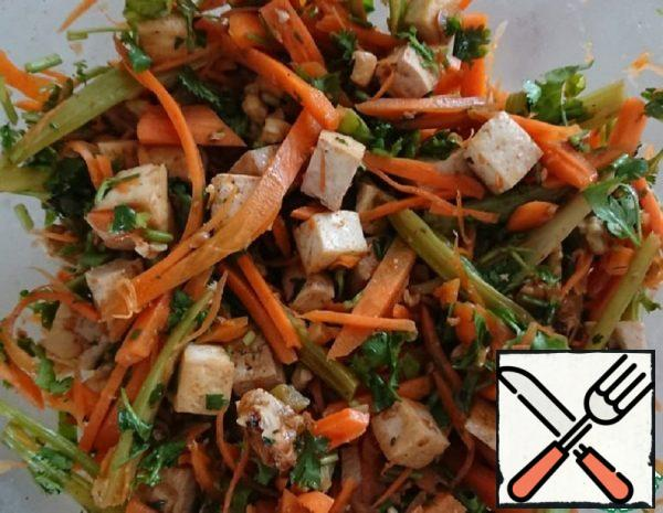 Carrot salad with Tofu Recipe