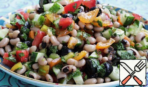 Vegetable Salad with Beans Recipe